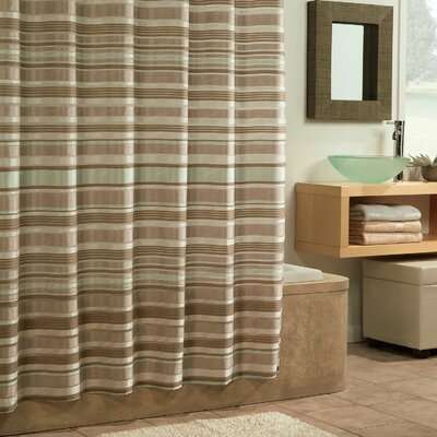 Carola Shower Curtain Color: Neutral Ice