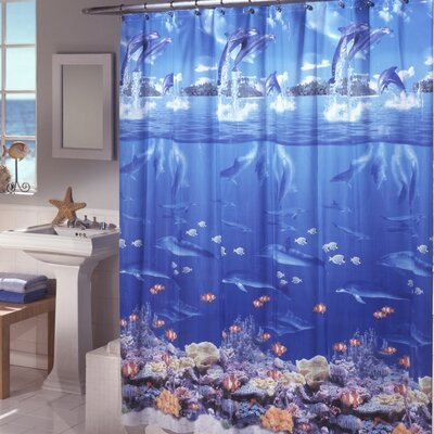 Ryann Vinyl Sea Life Shower Curtain