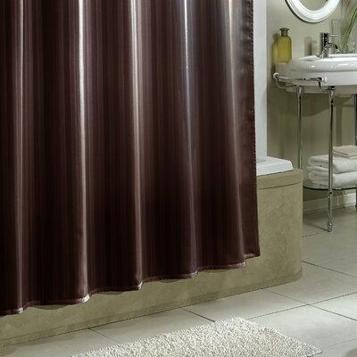 Lorita Damask Stripe Shower Curtain Liner Color: Espresso