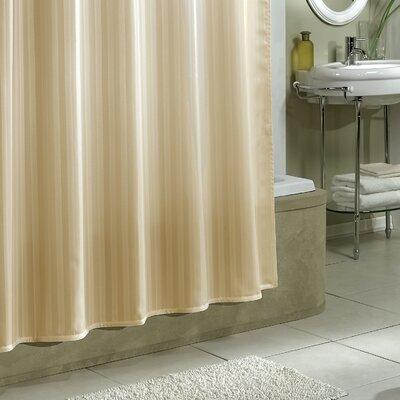 Darmstadt Damask Stripe Shower Curtain Liner Color: Linen