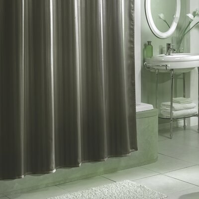 Darmstadt Damask Stripe Shower Curtain Liner Color: Grey