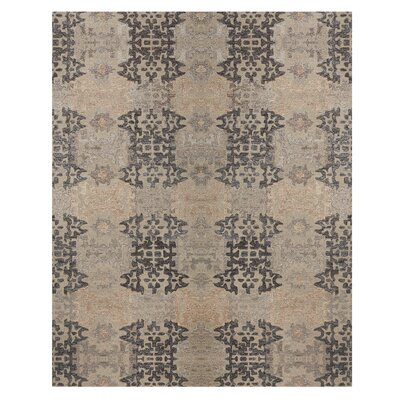 Cassandra Tile Path Hand-Woven Grey Area Rug Rug Size: Rectangle 8 x 10