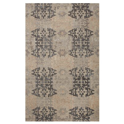 Cassandra Tile Path Hand-Woven Grey Area Rug Rug Size: Rectangle 4 x 6