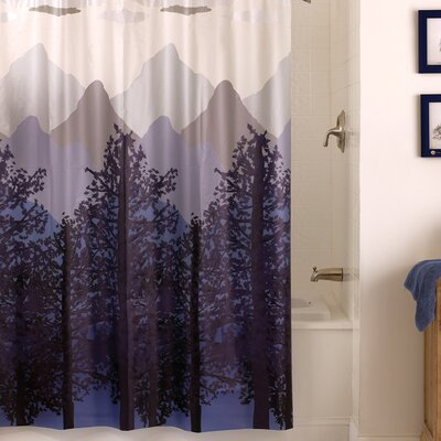 Brissac PEVA Misty Mountain Shower Curtain