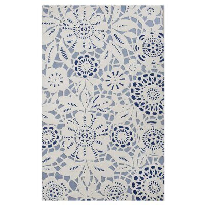 Tim Lace Hand-Woven Blue Area Rug Rug Size: Rectangle 8 x 10