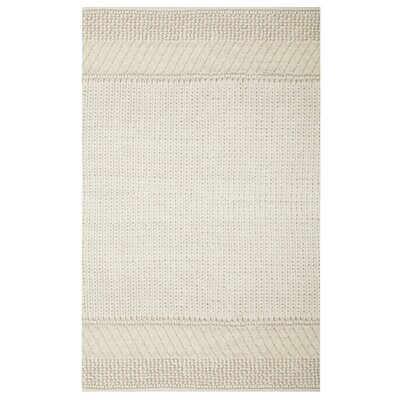 Triangle Sweater Hand-Knotted Natural Area Rug Rug Size: Rectangle 4 x 6