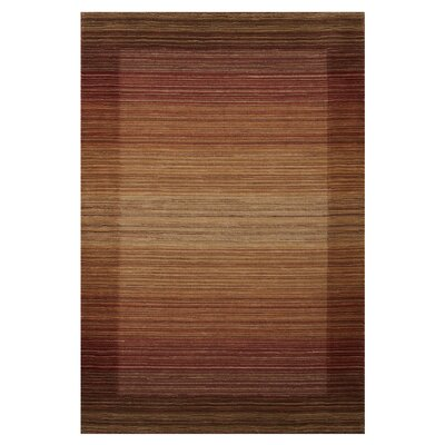 Wilford Stripe Hand-Woven Spice Area Rug Rug Size: Rectangle 4 x 6