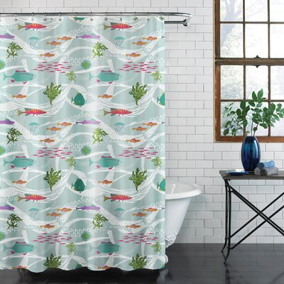 Sondhiya Ocean Shower Curtain