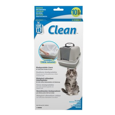 Catit Litter Box Liner (10 Pack) Size: Jumbo (30 H x 20 W x 0.9 L)