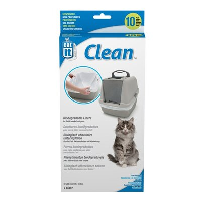 Catit Litter Box Liner (10 Pack) Size: Regular (24 H x 20 W x 0.8 L)