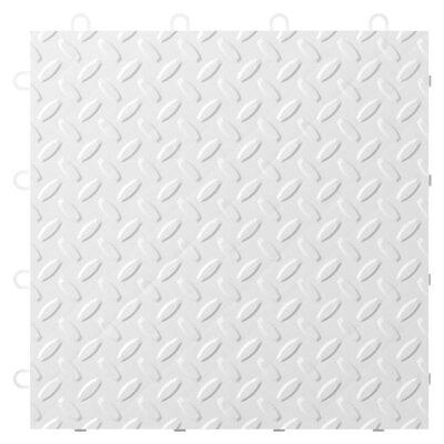 24-Pack Garage Floor Tile Color: White