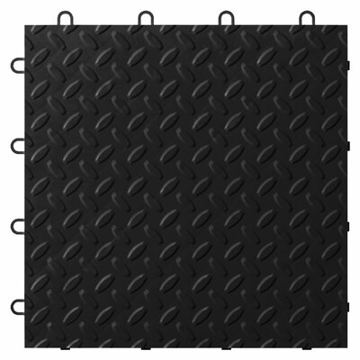 12 x 12 Garage Flooring Tile Color: Charcoal
