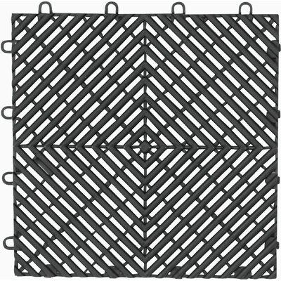 4-Pack Garage Floor Drain Tile Color: Charcoal