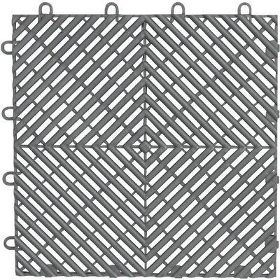 4-Pack Garage Floor Drain Tile Color: Silver