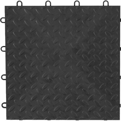 4-Pack Garage Floor Tile Color: Charcoal