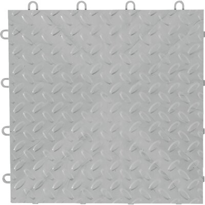 12 x 12 Garage Flooring Tile Color: Silver