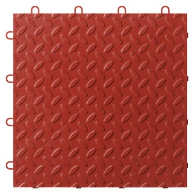 12 x 12 Garage Flooring Tile Color: Red