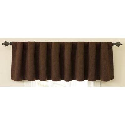 Sound Asleep Room Darkening Backtab Tailored Window Valance - Color: Chocolate at Sears.com