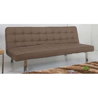 Vegas Convertible Sofa Upholstery: Taupe