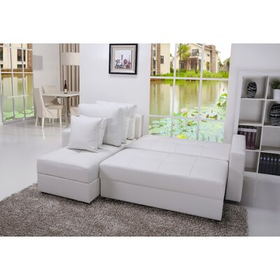 ADC-ASP-SEC-PUX-WHI XQS1241 Gold Sparrow Aspen Convertible Sectional Storage Sofa Bed Upholstery