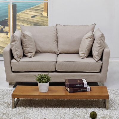 Lexington Loveseat Upholstery: Beige
