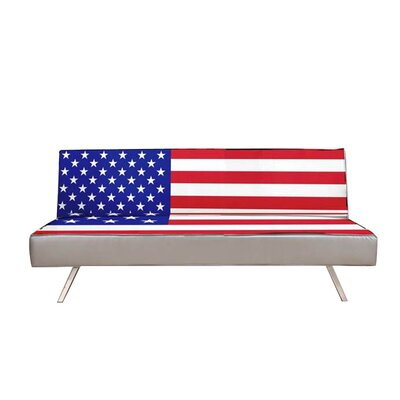 Gold Sparrow ADC-AME-CSB-MFP-WRB American Flag Convertible Sofa