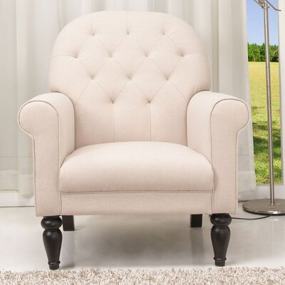 Oakland Armchair Color: Beige