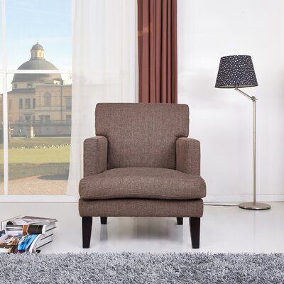Tulsa Armchair Color: Brown