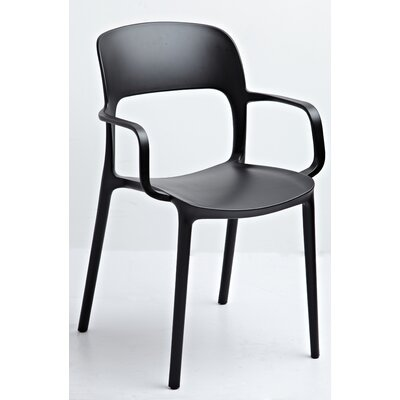 Jason Arm Chair Color: Black