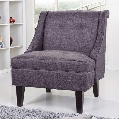 Kansas Wingback Slipper Chair Upholstery: Dark Gray