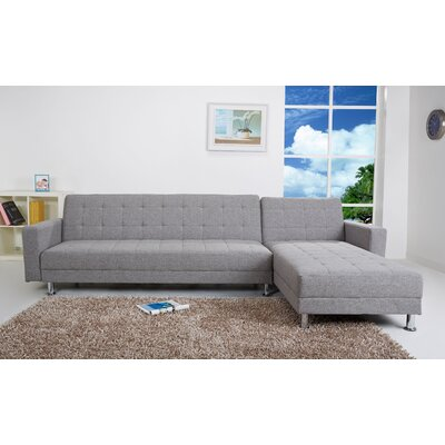 Spirit Lake Sleeper Sectional Upholstery: Ash