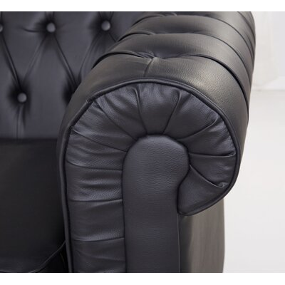 Arlington Club Chair Upholstery: Black