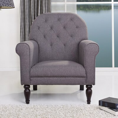 Oakland Arm Chair Color: Gray