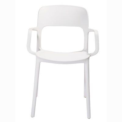 Jason Arm Chair Color: White