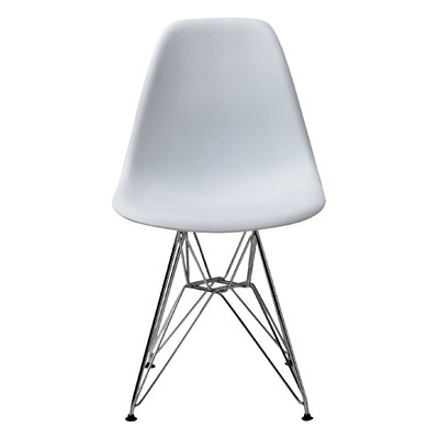 Conner Side Chair Upholstery: White