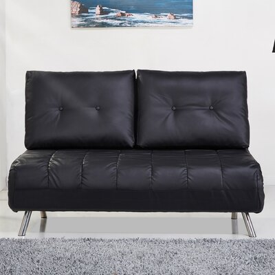 Gold Sparrow ADC-TAM-CLS-PUX-BLK Tampa Convertible Loveseat