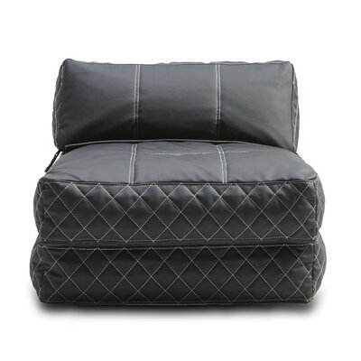 Austin Bean Bag Lounger Upholstery: Black