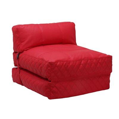 Austin Bean Bag Lounger Upholstery: Red