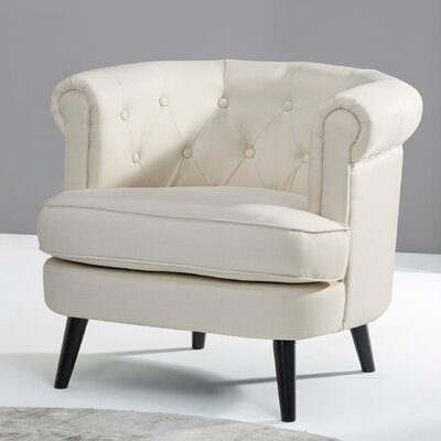 Gistel Club Chair Upholstery: Beige