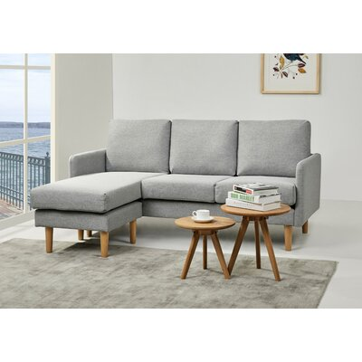 Florez Reversible Sectional Upholstery: Moonlight