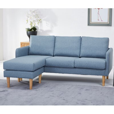Florez Reversible Sectional Upholstery: Chambray