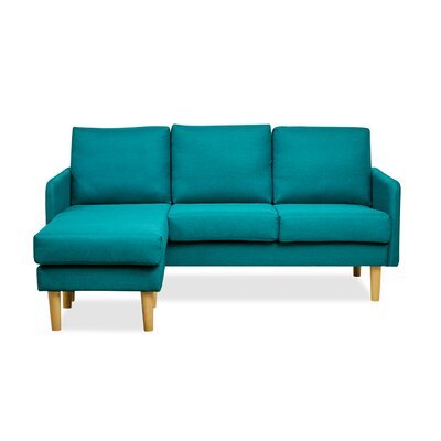 Florez Reversible Sectional Upholstery: Teal
