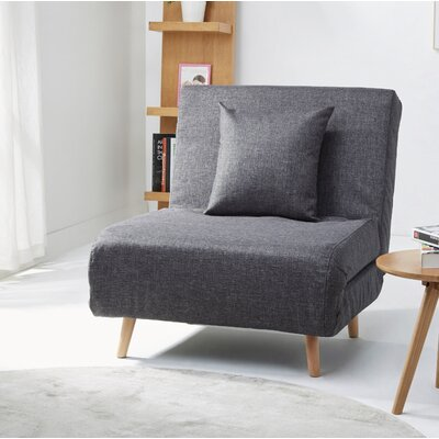 Wolfe Convertible Chair Upholstery: Dark Gray