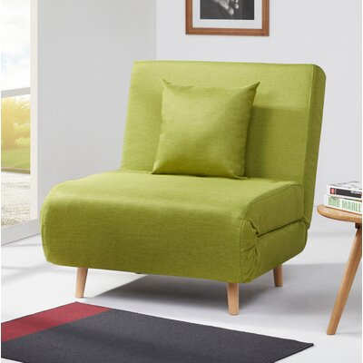 Wolfe Convertible Chair Upholstery: Lime