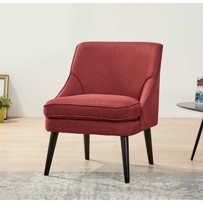Donnellson Upholstered Accent Chair Upholstery: Ruby