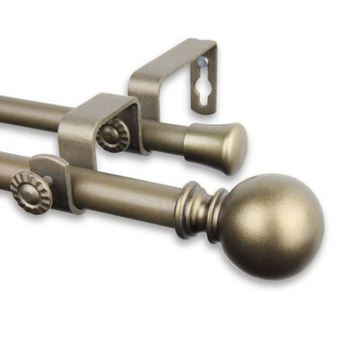 Estinnes Double Curtain Rod and Hardware Set 5710-284D