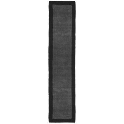 Pulse Grey Border Rug Rug Size: Runner 26 x 12