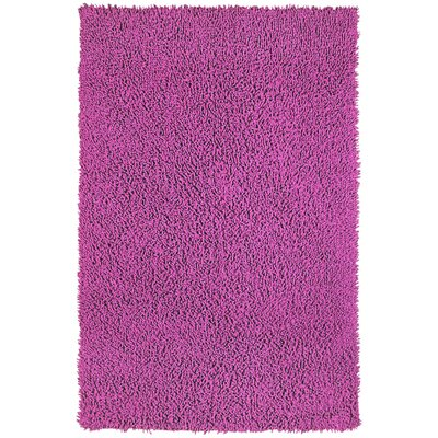 Shagadelic Chenille Twist Orchid Hand Woven Area Rug Rug Size: Rectangle 26 x 42
