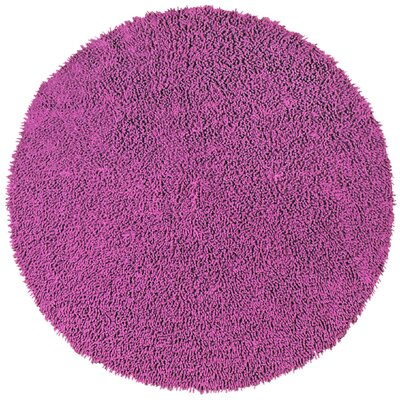 Shagadelic Chenille Twist Orchid Hand Woven Area Rug Rug Size: Round 3