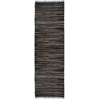 Matador Hand Woven Cotton Brown Area Rug Rug Size: Runner 26 x 12